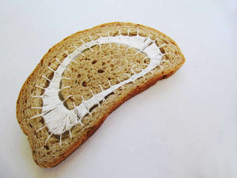 Embroidered Bread Art - Terézia Krnáčová's 'Everyday Bread' Project Utilizes Intricate Stitching