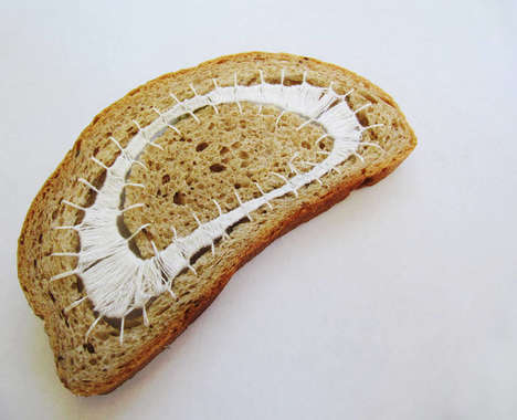 Embroidered Bread Art
