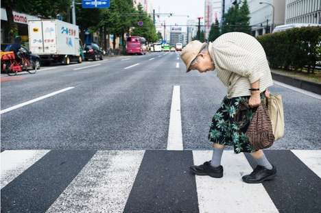 Japanese Elder Photography - Lee Chapman's 'Tokyo Times' Project Shows People in Their Daily Lives