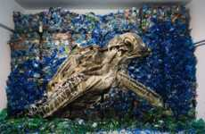 Trash-Made Animal Art