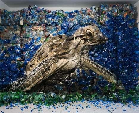 Trash-Made Animal Art