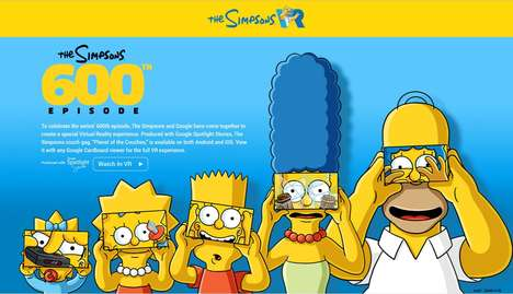 Cartoon Sitcom VR Experiences - Google and 'The Simpsons' Have Partnered to Release a VR Couch Gag