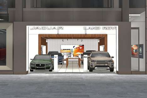 Experiential Dealership Shops - Jaguar Land Rover and Rockar Launched a Unique Retail Environment