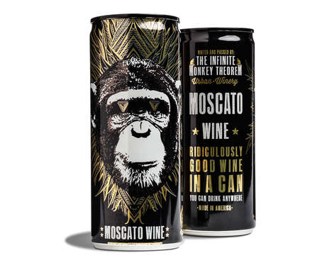 Simian Canned Wines - The Infinite Monkey Theorem Sets Itself Apart by Serving Wine by the Can