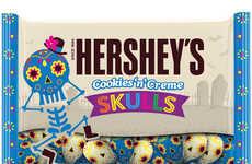 Mexican-Inspired Halloween Candies - Hershey's New Cookies 'n' Creme Skulls Draw on Día de Muertos