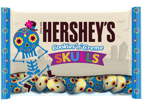 Mexican-Inspired Halloween Candies - Hershey's New Cookies 'n' Creme Skulls Draw on Día de Muertos