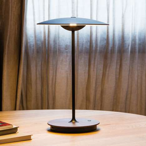 Portable Cordless Lamps - Marset's Ginger Lamp Can Easily Be Carried Around the House