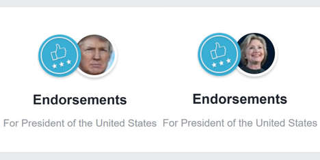 Social Media Political Endorsements - 'Facebook Endorsements' Lets Users Officially Show Support