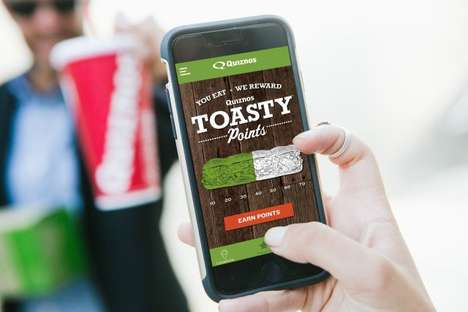 Sandwich-Earning Loyalty Programs - Quiznos' New Toasty Points Program Can Be Used to Earn Free Food