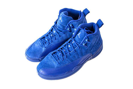 Electric Blue Basketball Sneakers - These New Air Jordan 12s Feature a Bold 'Deep Royal' Colorway