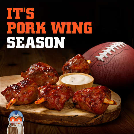 Pork-Based Barbecue Wings - Hooters is Now Offering Pork Wings as an Alternative to Chicken