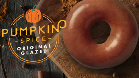 Exclusive Pumpkin Spice Donuts - Krispy Kreme is Selling a Pumpkin Spice Original Glazed Donut