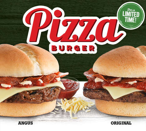 Hybrid Pizza Burgers - Harvey's New Pizza Burger Combines a Beef Patty with Cheese and Pepperoni