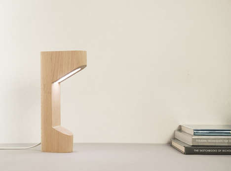Beach Wood Reading Lights - Saif Faisal's 'Alfredo Lamp' Has an Unconventional but Durable Design