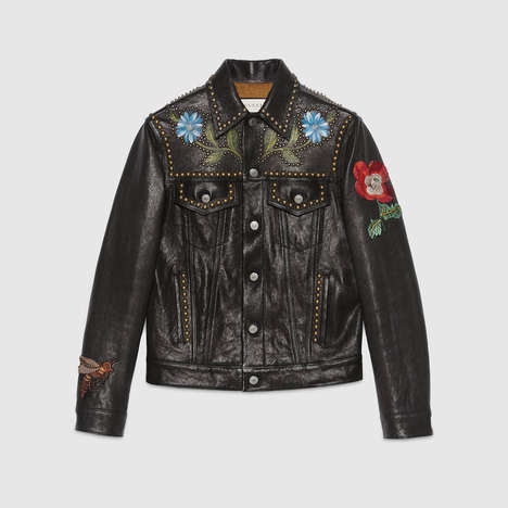 Luxuriously Embroidered Jackets - The New Gucci Jacket Features a Myriad of Beautiful Illustrations