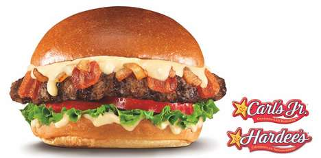 Beer-Infused Cheeseburgers - The Budweiser Brew House Bacon Cheeseburger Features Boozy Toppings