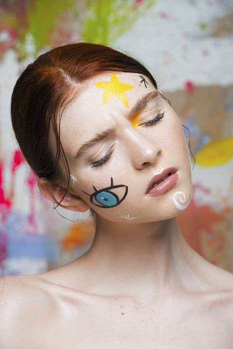Pop Art Beauty Portraits - Daniel Martínez Guillén's Beauty Scene Story Highlights Playful Makeup