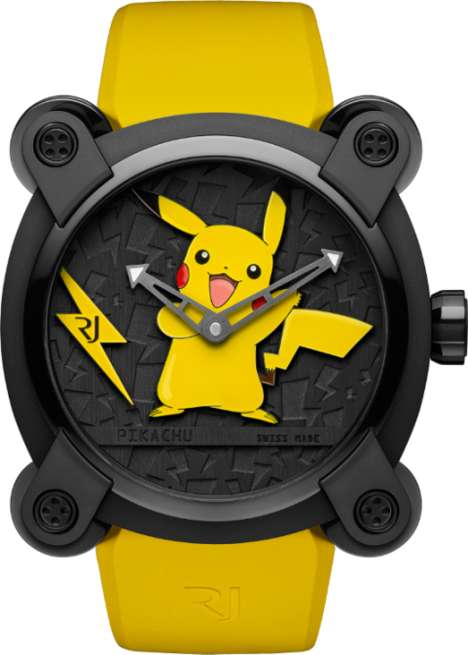 Luxury Anime Watches - The RJ X Pokemon Watch Features Fine Swiss Movement and a Pikachu