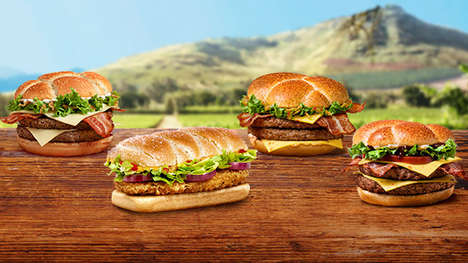 International Burger Menus - McDonald's Great Tastes of the World Menu Features Global Ingredients