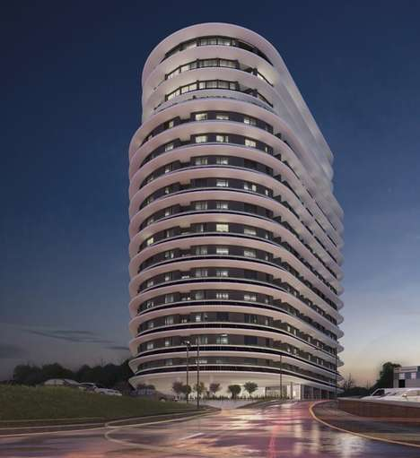 Sustainable Residential Towers - The 'Beacon' Tower Uses Heat Extraction Pumps and Solar Panels