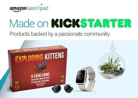 Crowdfunding Project Product Stores - The Amazon 'Made on Kickstarter' Curates Funded Goods