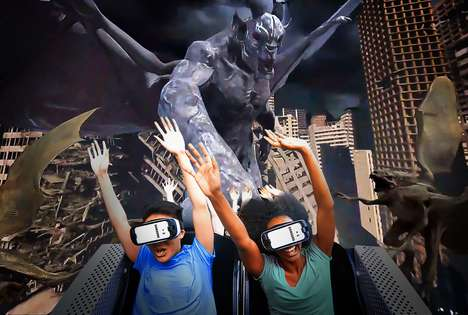 Frightful VR Coasters - The New Rage of the Gargoyles VR Coaster is Designed to Terrify Riders