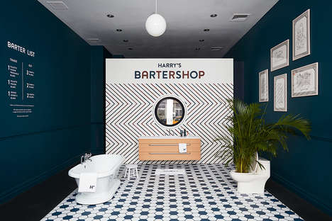 Blade Swap Pop-Up Shops - The Harry's Bartershop Lets Guys Trade Razor Blades on the Spot