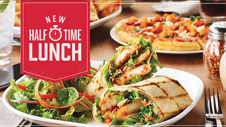 Quick Service Lunch Promotions - Boston Pizza Now Offers a Speedy Halftime Lunch Menu