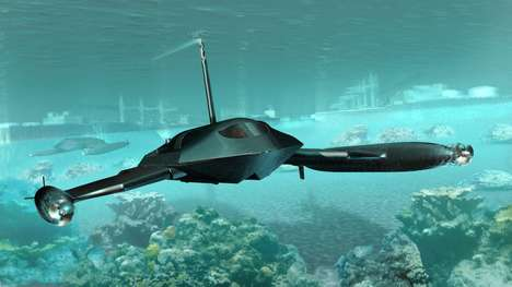 Stealth Aquatic Military Vessels - The Guardian is an Unmanned Surface Vehicle Capable of Submerging