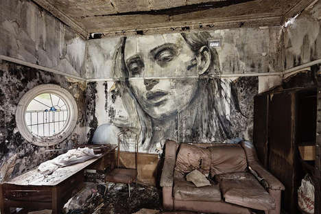 Crumbling Beauty Murals - This Street Art Project Reflects the Value Society Places on Beauty