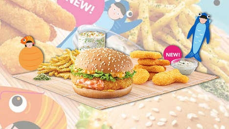 Fishy Fast Food Menus - McDonald's Singapore is Now Serving a Variety of Seafood-Centric Dishes