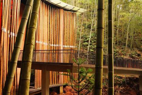 Bamboo Canopy Gateways - The Zhuhai National Park Gateway was Designed by West-line Studio