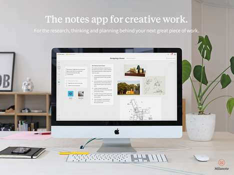 Creative Professional Organization Apps - 'Milanote' is a Project Notes App That Culminates Content