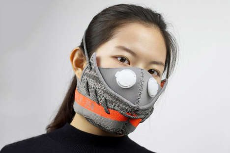 Deconstructed Sneaker Masks - Zhijun Wang Tore Apart a Pair of YEEZYs and Made Them into a Face Mask