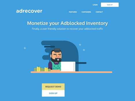 Web Ad-Optimizing Services - 'AdRecover' Enables Web Publishers to Monetize Blocked Ad Traffic