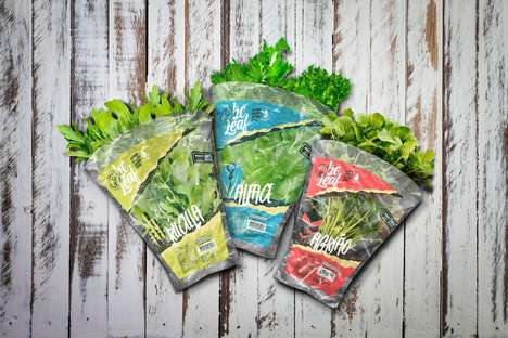 Hydroponic Produce Branding - The 'Beleaf' Green Produce Packaging Encourages a Healthier Lifestyle