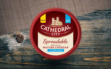 Sharp Low-Fat Cheese Spreads - The Cathedral City Spreadables Merge Taste with a Healthier Recipe