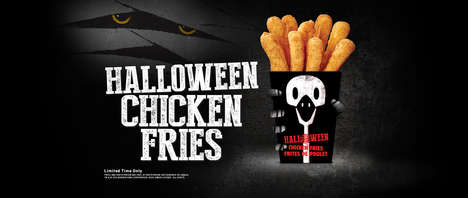 Spooky Fast Food Packaging - Burger King's Chicken Fries Now Come in a Festive Halloween Box
