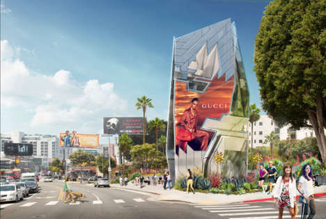 Interactive Vertical Billboards - Tom Wiscombe's Novel Billboard Design Will Go Up in Los Angeles