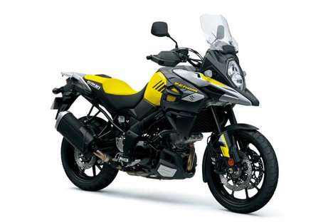 Adventurous Aerodynamic Motorbikes - The New Suzuki V-Strom Offers Improved Aerodynamic Performance