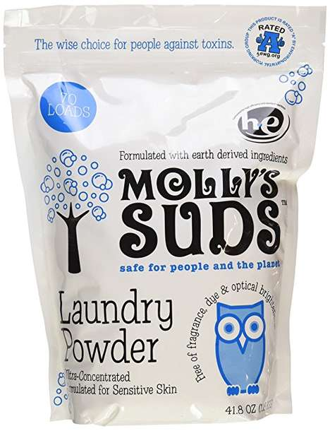 Chemical-Free Laundry Powders - This Laundry Detergent Was Designed for People with Sensitive Skin