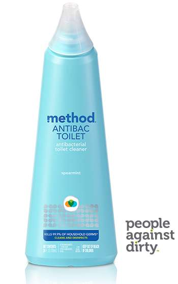 Citric Bathroom Cleaners - Method Antibac Toilet Cleans Toilet Bowls without Harsh Chemicals
