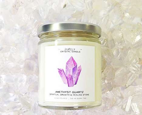 Crystal-Infused Candles