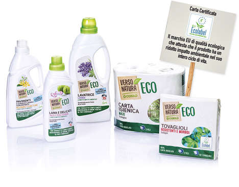 Eco-Friendly Cleaning Products - The Verso Natura Line Includes Dish Soap, Detergent & Toilet Paper