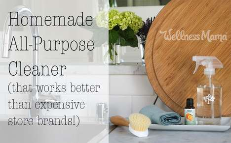Homemade All-Purpose Cleaners - Wellness Mama's Recipe is Said to Work Better Than Store Products