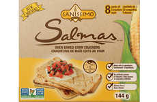 Wholesome Corn-Based Crackers - The  Sanissimo Salmas Crackers are Made from Whole-Grain Corn Flour