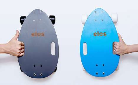 Compact Longboard Designs - The Elos Longboard Was Designed to Be as Portable as Possible