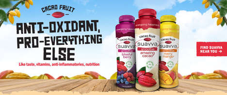 Functional Cacao Pulp Smoothies - The Suavva Cacao Fruit Smoothies are Packed with Health Benefits