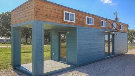 Spacious Container Homes - This Home is Equipped With a Full-Size Bathroom and Sleeping Loft Area