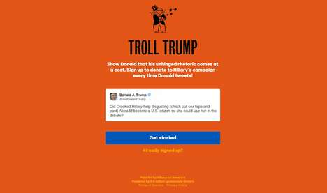 Subversive Social Media Donations - The Troll Trump Bot Donates to Clinton for Every Trump Tweet